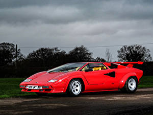 Fotos Lamborghini Retro Rot Metallisch 1982-85 Countach LP500 S Bertone