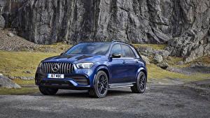 Fotos Mercedes-Benz Blau Metallisch 2020 AMG GLE 53 4MATIC automobil