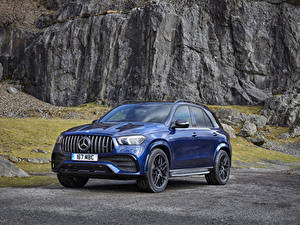 Fotos Mercedes-Benz Blau Metallisch 2020 AMG GLE 53 4MATIC automobil