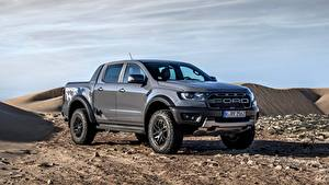 Fotos Ford Pick-up Graue Metallisch Ranger Raptor auto