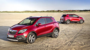 Fotos Opel 2 Burgunder Farbe 2012 Mokka Turbo 4x4