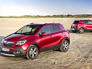 Fotos Opel 2 Burgunder Farbe 2012 Mokka Turbo 4x4 auto