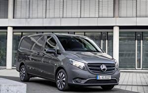 Tapety na pulpit Mercedes-Benz Minivan Szary 2020 Vito Panel Van Worldwide samochód