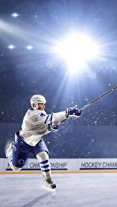 Hintergrundbilder Hockey Mann Uniform Lichtstrahl Eisbahn sportliches