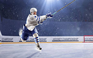 Wallpapers Hockey Men Uniform Rays of light Ice rink athletic