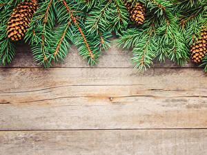 Bilder Neujahr Bretter Ast Zapfen
