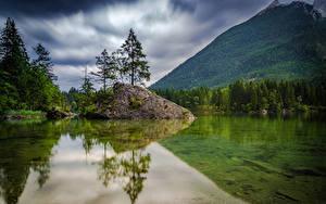 Bilder Deutschland Gebirge Wälder See Landschaftsfotografie Bäume Hintersee