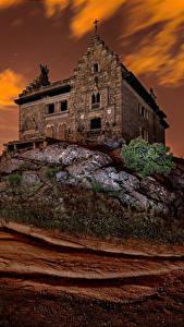 Hintergrundbilder Spanien Haus Abend Palast Palace of Canto del Pico Torrelodones