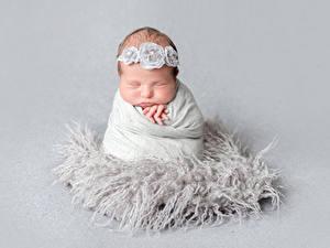 Bilder Grauer Hintergrund Säugling Schlaf Kinder