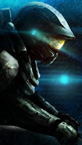 Bilder Halo Krieger Rüstung Helm 4 computerspiel Fantasy