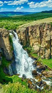 Photo USA Rivers Waterfalls Scenery Cliff Colorado Nature