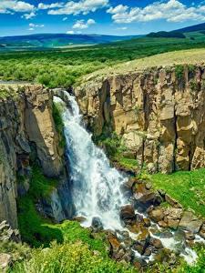 Hintergrundbilder USA Fluss Wasserfall Landschaftsfotografie Felsen Colorado Natur