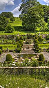 Hintergrundbilder England Garten Design Strauch Bäume Mapperton Natur