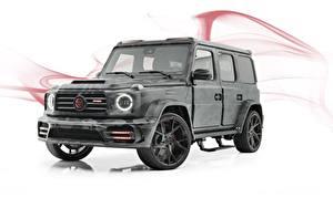 Bilder G-Modell Mercedes-Benz Weißer hintergrund Graue AMG, Mansory, G63, 2019, Star Trooper auto