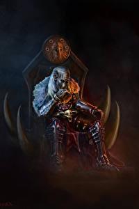 Fotos Krieger Thron Sitzend Fantasy