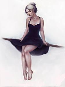 Hintergrundbilder Gezeichnet Bein Kleid Sitzend Weißer hintergrund