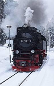 Hintergrundbilder Winter Züge Eisenbahn Schnee Rauch