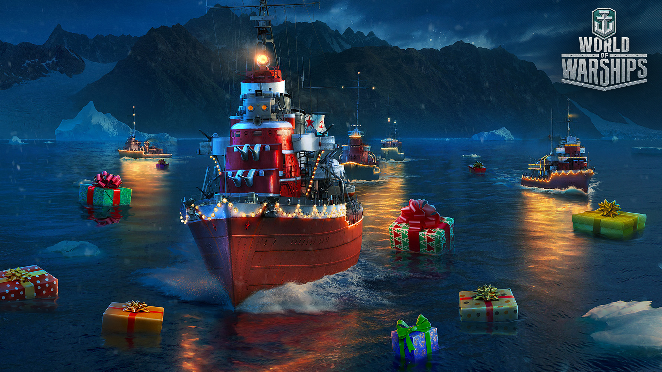World Of Warships Christmas Containers 2021 Picture World Of Warship New Year Russian Tashkent Ship 2560x1440