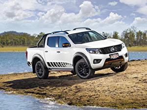 Pictures Nissan White Pickup 2019 Navara N-Trek Cars
