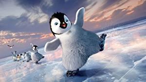 Papéis de parede Pinguim Happy Feet Gelo Cartoons