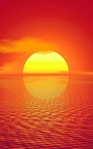 壁纸、、朝焼けと日没、太陽、3Dグラフィックス