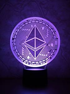 Bureaubladachtergronden Munten Close-up Violet ethereum, eth