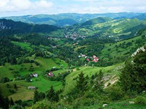 Hintergrundbilder Rumänien Landschaftsfotografie Gebäude Hügel Transylvania