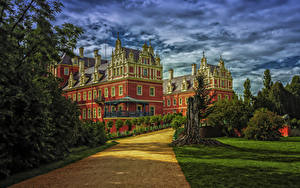 Image Germany Building Palace Design Lawn Bad Muskau Cities