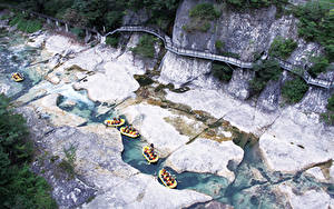 Image Rafting Rivers Boats Japan Cliff Minakami, Prefectural Gummi, Tone District Sport