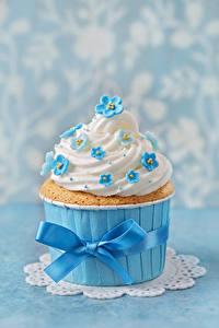 Bilder Süßigkeiten Cupcake Design Schleife Lebensmittel