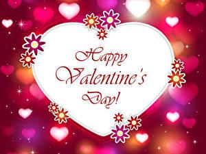 Papéis de parede Dia dos Namorados Desenho vetorial Coração Inglês