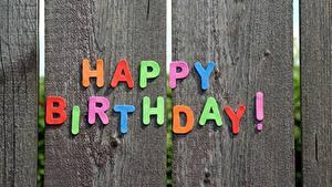 Fotos Geburtstag Bretter Englischer Text Zaun