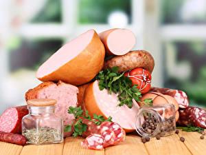 Hintergrundbilder Fleischwaren Wurst Gewürze Einweckglas das Essen
