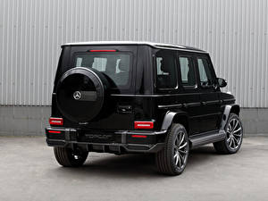 Bilder Mercedes-Benz G-Modell Schwarz Metallisch Hinten G 350 d Light Package, Br.463, 2020 Autos