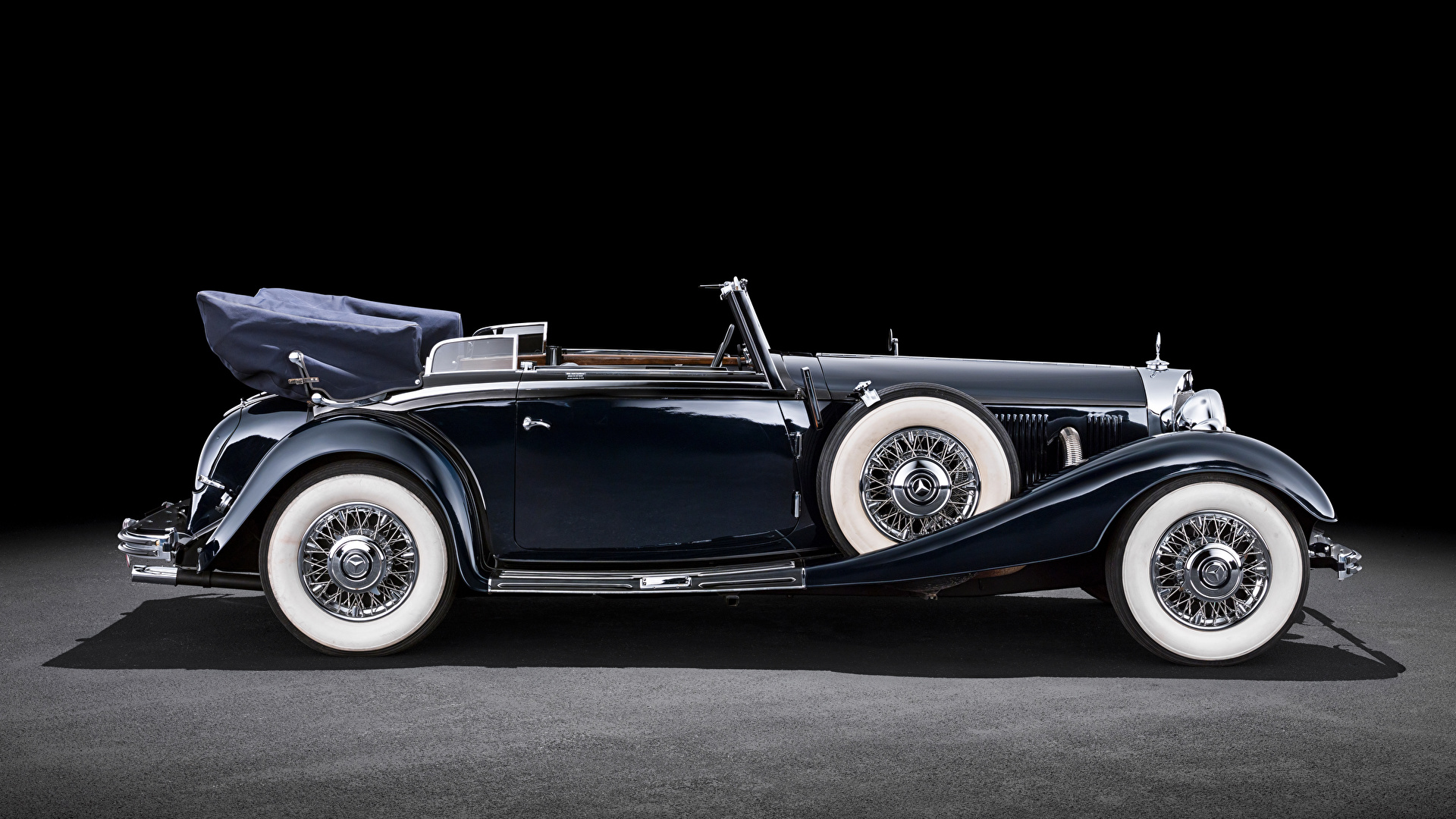 Bilder von Mercedes-Benz Cabrio antik Autos Seitlich 1920x1080 Cabriolet Retro auto automobil