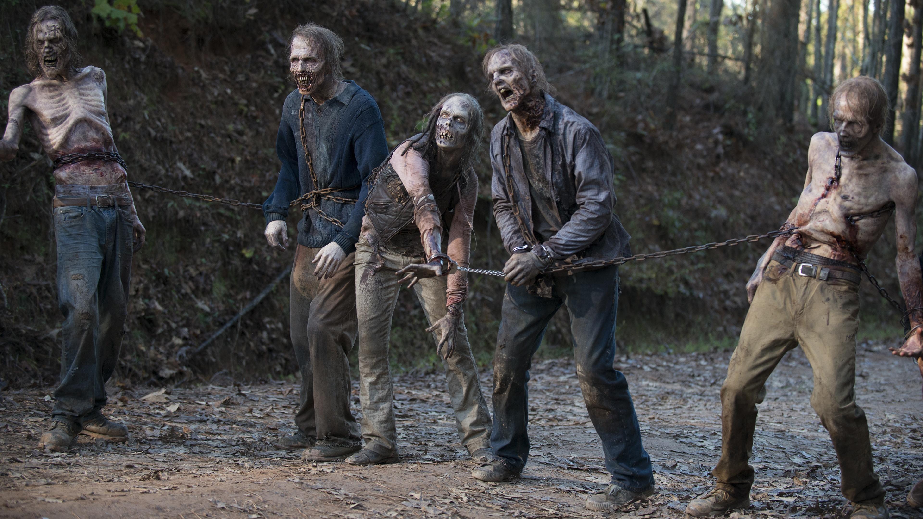 Wallpaper The Walking Dead Tv Zombie Season 6 Film Chain 3840x2160
