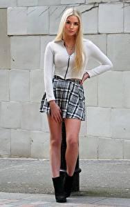 Fotos Bein Rock Haar Blond Mädchen