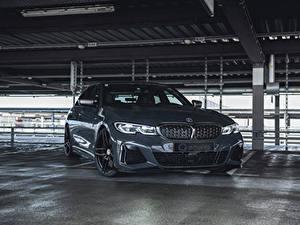 デスクトップの壁紙、、BMW、灰色、メタリック塗、2020 G-Power M340i、自動車