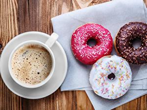 Fotos Kaffee Donut Tasse