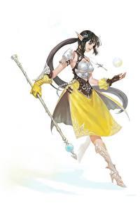 Hintergrundbilder Magie Elfe Weißer hintergrund Magierstab Rüstung NESSI Fantasy Mädchens