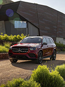 Fotos Mercedes-Benz Rot Metallisch 2020 GLS 580 4MATIC AMG Line