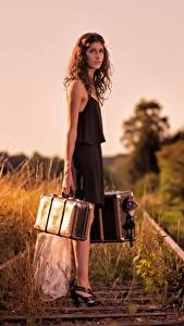 Pictures Railroads Suitcase Girls