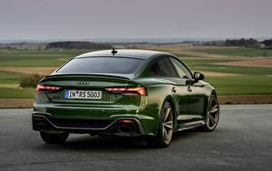 Bilder Audi Hinten Grün RS 5, 2020, RS5 Sportback automobil