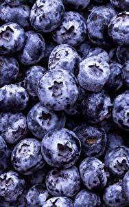 Pictures Blueberries Texture Berry Closeup Food