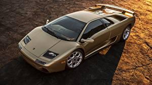 Bilder Lamborghini Gold Farbe Diablo