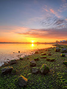 Bilder Irland Küste Steine Morgendämmerung und Sonnenuntergang Sonne Kinvara Natur