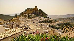 Fotos Spanien Gebäude Felsen Montefrio