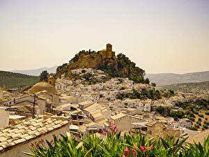 Fotos Spanien Gebäude Felsen Montefrio Städte