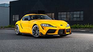 Wallpaper Toyota Yellow Metallic GR Supra 2.0 North America, (A90), 2020 auto