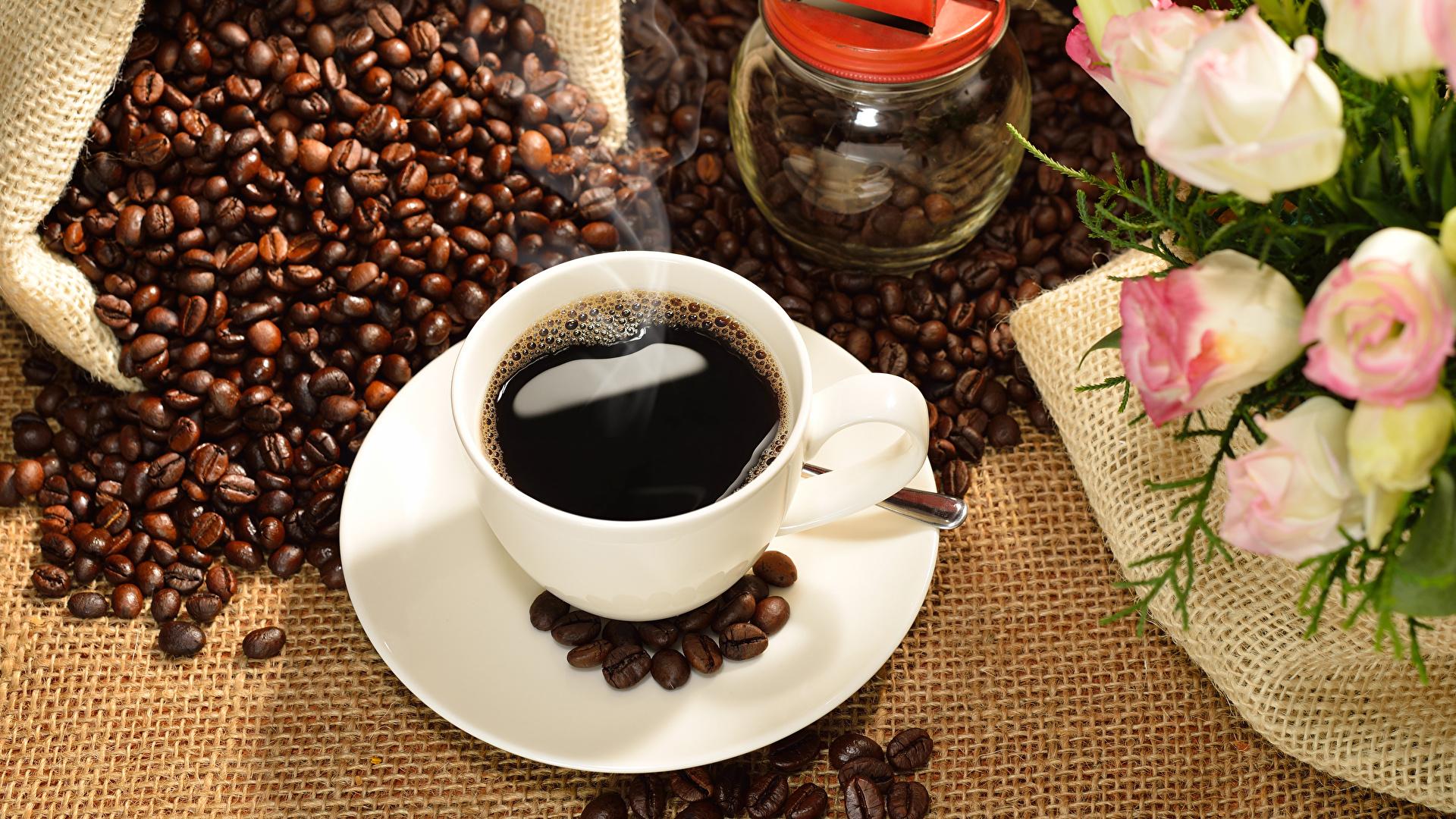 Bilder Kaffee Getreide Tasse Lebensmittel 1920x1080